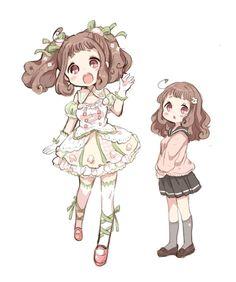 Chibi Kawaii, Loli Kawaii, Cute Anime Chibi, Anime Girl Cute, Kawaii Art, Kawaii Anime Girl, Anime Art Girl, Chibi Characters, Cute Characters