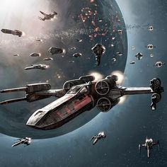 Wedge Antilles leads the Rebel fighter squadrons and fleet to Endor