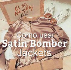 H-SAMA blog: Como usar Satin Bomber Jacket - Casaco #Moda