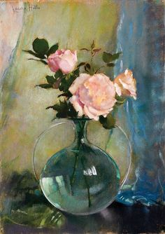 Laura Coombs Hills excelled in three fields: portraits, illustration, and flower painting in pastel. Art Floral, Figure Painting, Painting & Drawing, Drawing Trees, Realistic Paintings, Rose Paintings, Still Life Art, Watercolor Rose, Pastel Art