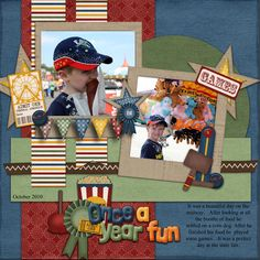 county fair scrapbook layouts - Google Search