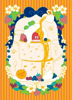 OBAKEchanとパンケーキ Snoopy, Sweets, Comics, Drawings, Illustration, Pattern, Fictional Characters, Image, Gummi Candy