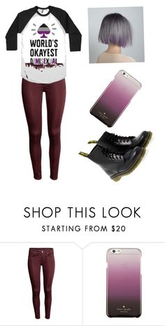 """""""Demisexual"""" by emmaxmyself ❤ liked on Polyvore featuring Kate Spade and Dr. Martens"""