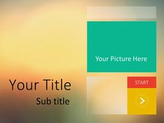 PowerPoint template design is themes flat design. Inspired from the soft and elegant look of windows 8. Green, yellow, and red customized with designs that are popular in this PowerPoint.