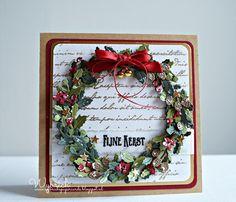 Voor al mijn bloglezers/volgers......fijne kerstdagen, geniet ervan!       craftables: Wreath CR1387  creatables: Petra's Twigs set LR043...