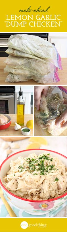 Lemon Garlic Dump Chicken
