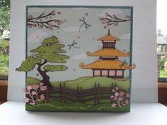 Card using cricut Pagoda cartridge