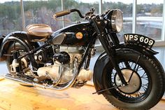 OldMotoDude: 1947 Sunbeam S7 on display at the Barber Vintage M...