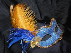 Venetian Masquerade Mask in Royal Blue and by TheCraftyChemist07