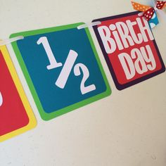 Rainbow ITS MY 1 2 BIRTHDAY Banner For Or Candyland Themed Half Birthday Decoration Photo Prop Session Baby
