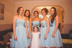 Relaxed Rustic Stylish Wedding Bridesmaids Blue Dresses http://www.bloomweddings.co.uk/