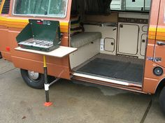 As I've previously mentioned, the Vanagon Westfalia camper conversion is very space efficient. Sometimes too much so. So much uitility...