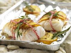 These cod fillets are seasoned with lemon and rosemary, then grilled for a light dish that is full of flavor.   Eat Smarter