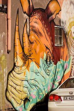 Street Art in Woodstock; Cape Town.