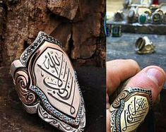 Old Style Unique Silver Necklaces and Rings by OldStyleJewelry Archery Thumb Ring, Men's Jewelry Rings, Boho Jewelry, Jewellery, Gothic Engagement Ring, Gents Ring, Graduation Jewelry, Mens Silver Rings, Thumb Rings