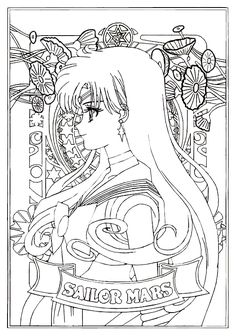 SMC Portraits - Sailor Mars by MissLily1990
