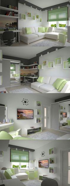 "Study room, ""Fresh cabinet"" concept."