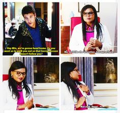 """""""not now pepe!"""" / """"the mindy project"""", season Movies Showing, Movies And Tv Shows, Modern Family Quotes, W Two Worlds, The Mindy Project, Mindy Kaling, American Dad, Great Tv Shows, Music Tv"""
