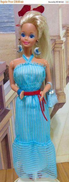 ON SALE Vintage Sparkle Eyes Barbie Doll Rhinestone by DressMeDoll