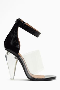 Not There Sandal in Black by Jeffrey Campbell