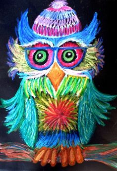 Painting Art Projects For Kids How To Make 65 Ideas Projects For Kids, Art Projects, Online Painting, Painting Art, Paintings, 5th Grade Art, Face Illustration, Owl Crafts, Owl Art