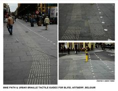 "Elegant bike path and tactile navigation (""urban Braille"") in Antwerp, Belgium. Click to tweet via @SonnyTomic and visit the slowottawa.ca boards >> http://www.pinterest.com/slowottawa/"