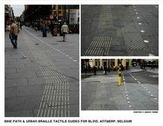 "Elegant bike path and tactile navigation (""urban Braille"") in Antwerp, Belgium. Click to tweet via @SonnyTomic and visit the slowottawa.ca boards >> http://www.pinterest.com/slowottawa/"