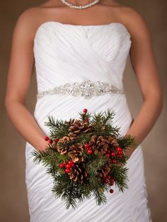 i like the pine needles and berries, but I would want flowers instead of pinecones.