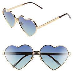 Wildfox 'Lolita' 59mm Heart Sunglasses