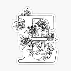 Adult Coloring Pages, Coloring Sheets, Coloring Books, Coloring Letters, Alphabet, Floral Letters, Poster Colour, Sticker Design, Embroidery Patterns