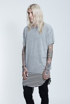 MXDVS — Fear Of God Heather Grey Essential Inside/out Tee...