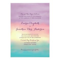 Sunset Romance | Wedding 5x7 Paper Invitation Card