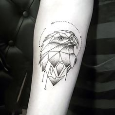 Geometric Eagle Tattoo Idea