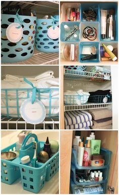Dollar Store Bathroom Organizing - This blogger organized her entire bathroom using only supplies found from the dollar store!