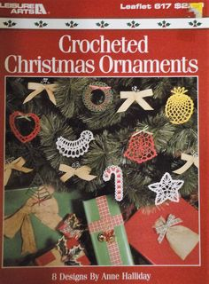Here is a crochet pattern from Leisure Arts for  Christmas tree decorations.   It is # 617 published in 1988.   Use bedspread weight cotton.