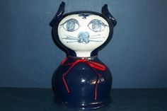 "RARE LARGE ""CAT"" MONEY BOX BY BJORN WIINBLAD DATED 1964: STUDIO WORK"