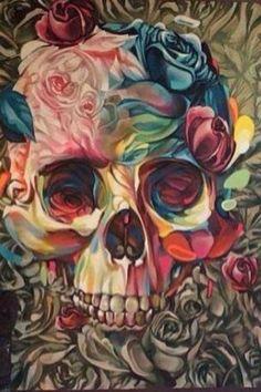 Thisnthat skulls, grim reapers, etc в 2019 г. Sugar Skull Artwork, Sugar Skulls, Sugar Skull Painting, Sugar Skull Wallpaper, Crane, Street Art News, Skull Pictures, Skeleton Art, Desenho Tattoo