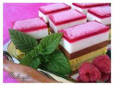 Hűtött süti alias Radír szelet Hungarian Recipes, Hungarian Food, Amazing Cakes, Fudge, Cake Recipes, Panna Cotta, Cheesecake, Food And Drink, Gluten Free