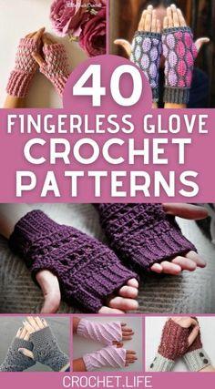 Crochet Fingerless Gloves Free Pattern, Crochet Mitts, Fingerless Gloves Knitted, Diy Crochet, Crochet Ideas To Sell, Crochet Wrist Warmers, Hand Warmers, Crochet For Beginners, Beginner Crochet