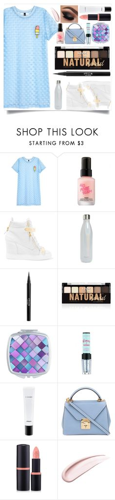"""""""So fresh: White Sneakers"""" by soniaxfall ❤ liked on Polyvore featuring H&M, Touch in Sol, Giuseppe Zanotti, S'well, Stila, NYX, Etude House, MAC Cosmetics, Mark Cross and Forever 21"""