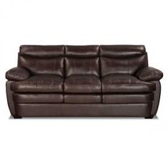 Stetson Walnut Leather Sofa