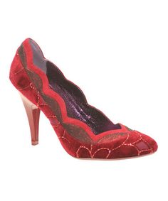 Take a look at this Red Birdcage Pump by Poetic Licence on #zulily today!