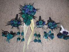 Flax flower wedding set. Flax Flowers, Advent Ideas, Flower Bouquet Wedding, Wedding Sets, Flower Arrangements, Wreaths, Patterns, Floral, Crafts