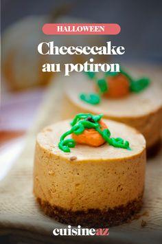 Ce cheesecake sucré au potiron est un dessert pour votre soirée d'Halloween. #recette#cuisine#cheesecake #potiron #courge#patisserie #halloween
