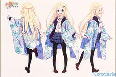 Hanayamata: Hana N. Fountainstand Character Model Sheets