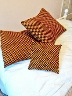 x2 Large and x1 Small Cut and stitched by hand Holland Wax with Faux Suede backing