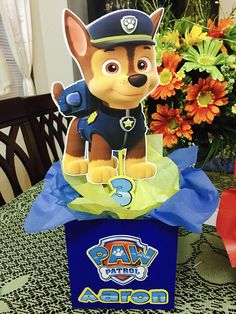 Paw patrol inspired Centerpieces all 8 characters-paw patrol birthday-paw centerpieces- Paw Patrol Birthday Decorations, Paw Patrol Birthday Theme, Paw Patrol Centerpieces, 2 Birthday, 4th Birthday Parties, Kitten Party, Paw Patrol Cake, Unicorn Drawing, Unicorn Invitations