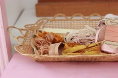 Pretty trinkets & ribbons. I took this at the @ariadneathome house at the #woonbeurs (2014)