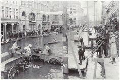 Flood of 1894, 3rd & Alder - Portland, Oregon