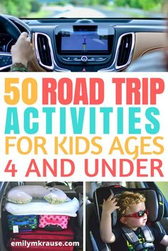 50 Road Trip Activities for Toddlers and Preschoolers — A Mom Explores What to do with toddlers and preschoolers on a long road trip. Road trip activities for little kids.